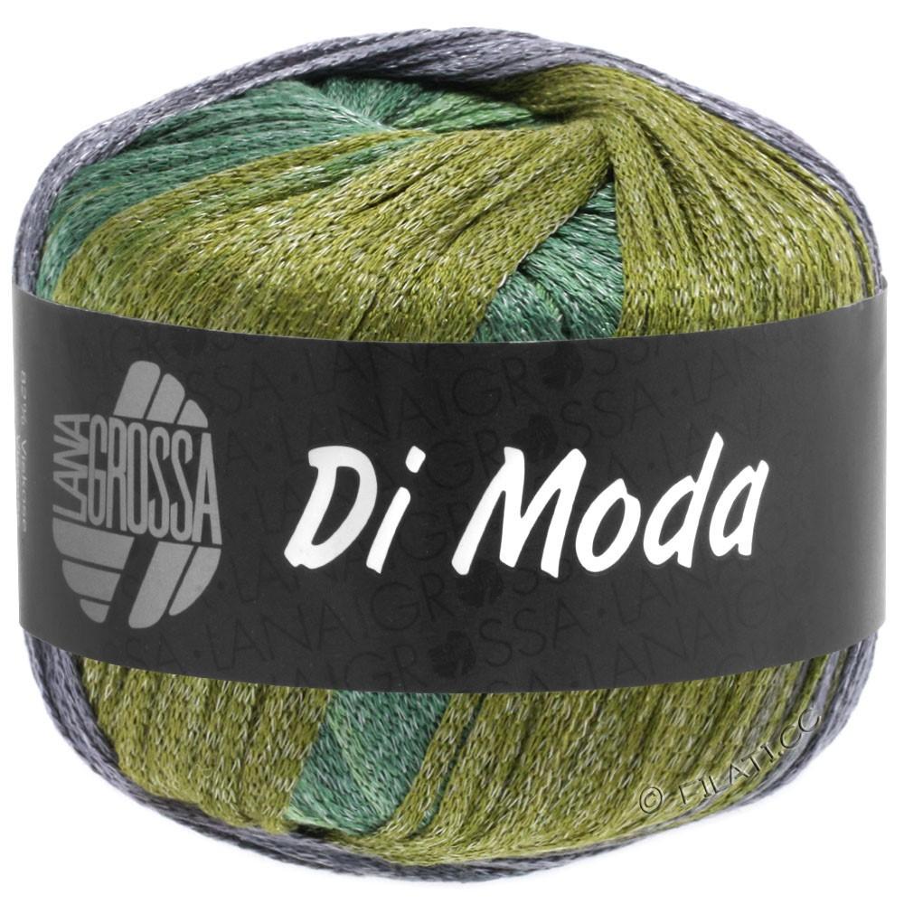 Lana Grossa DI MODA | 18-Oliv/Antikviolett/Dunkel-/Mittelgrün
