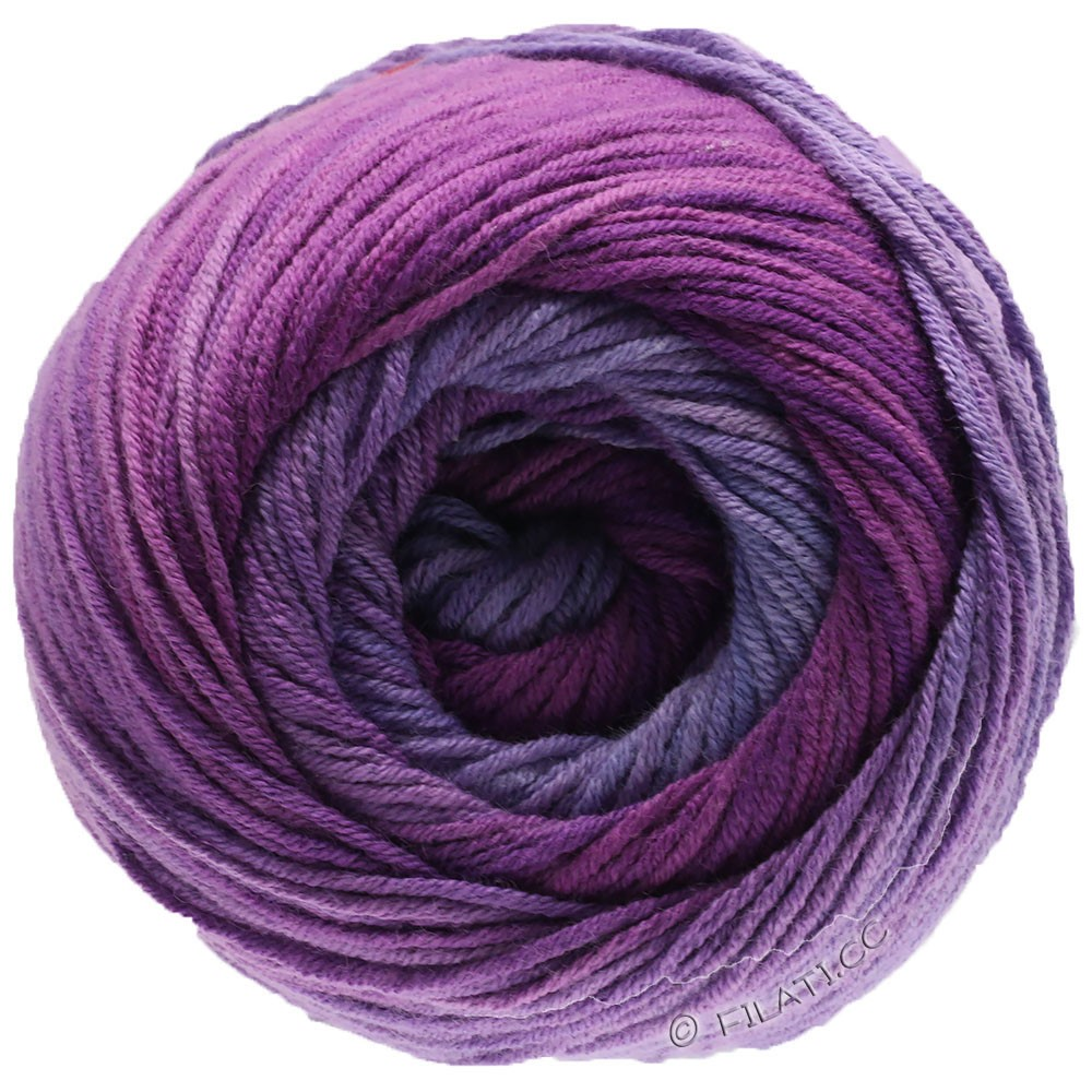 Lana Grossa ELASTICO Degradé | 711-Lavendel/Flieder/Rotviolett