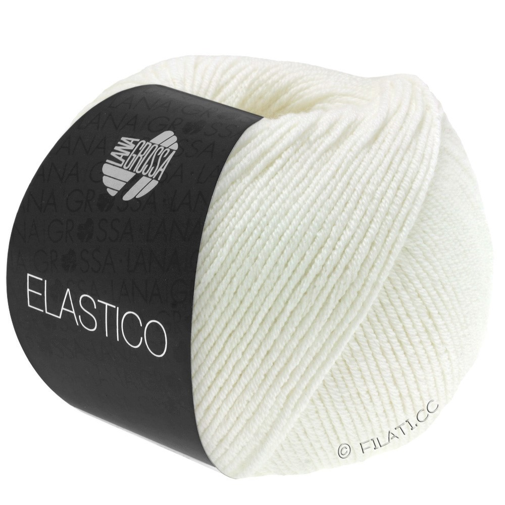 Lana Grossa ELASTICO  Uni/Print | 036-Ecru