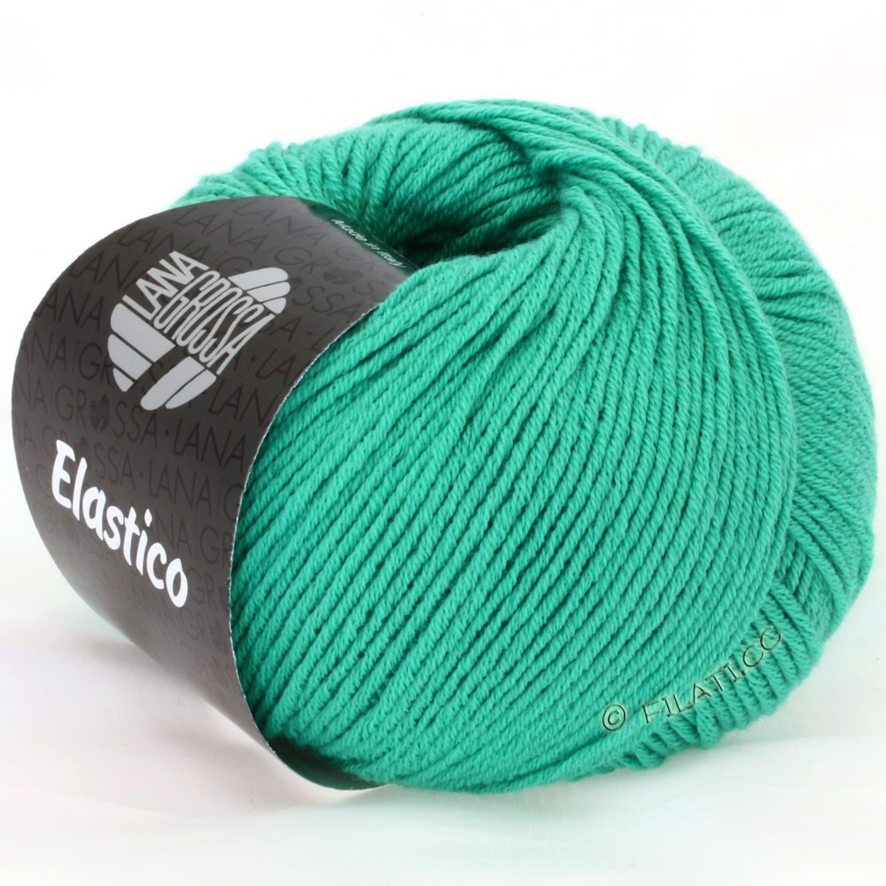 Lana Grossa ELASTICO Uni/Print | 106-Smaragd