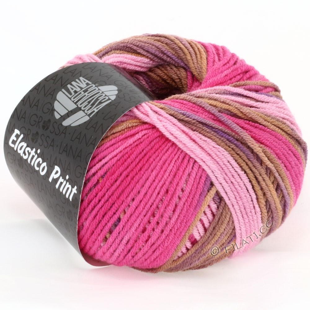 Lana Grossa ELASTICO  Uni/Print | 507-Rosa/Pink/Cognac/Violett