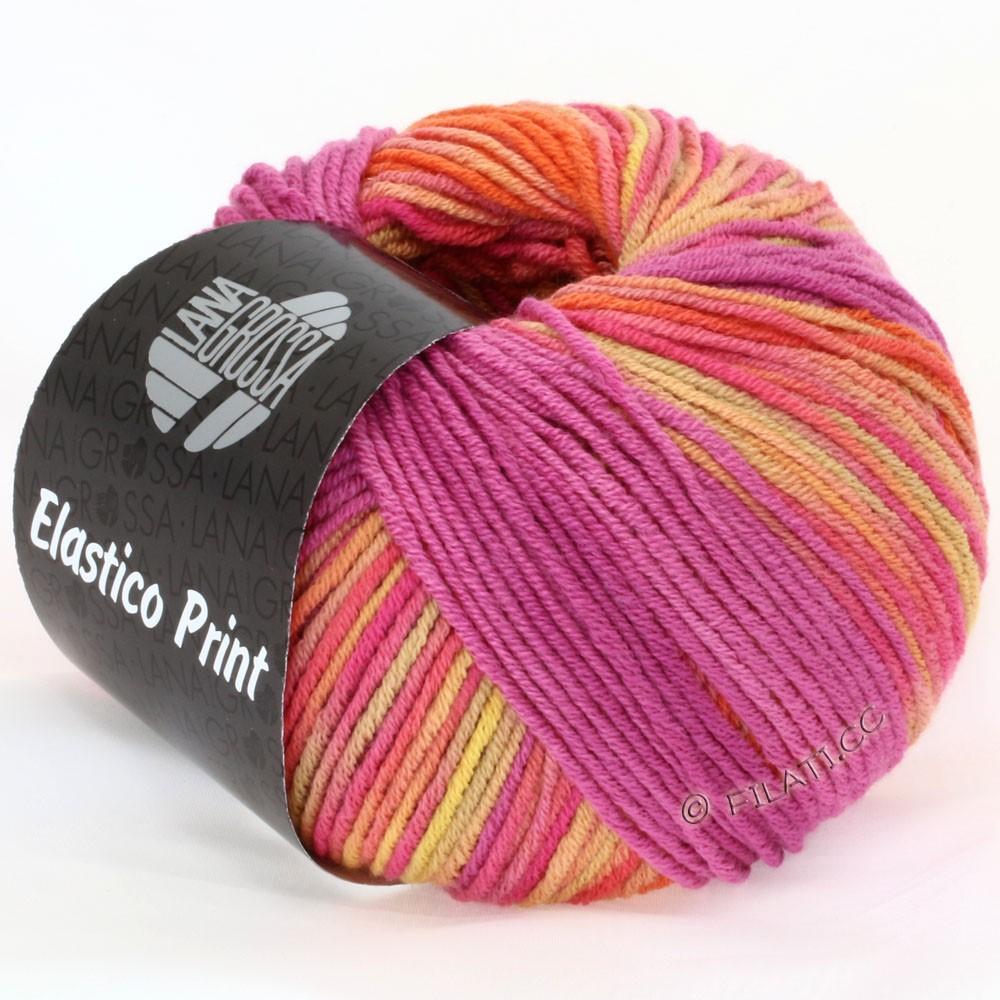 Lana Grossa ELASTICO  Uni/Print | 510-Hummer/Camel/Himbeer/Pink/Pfirsich