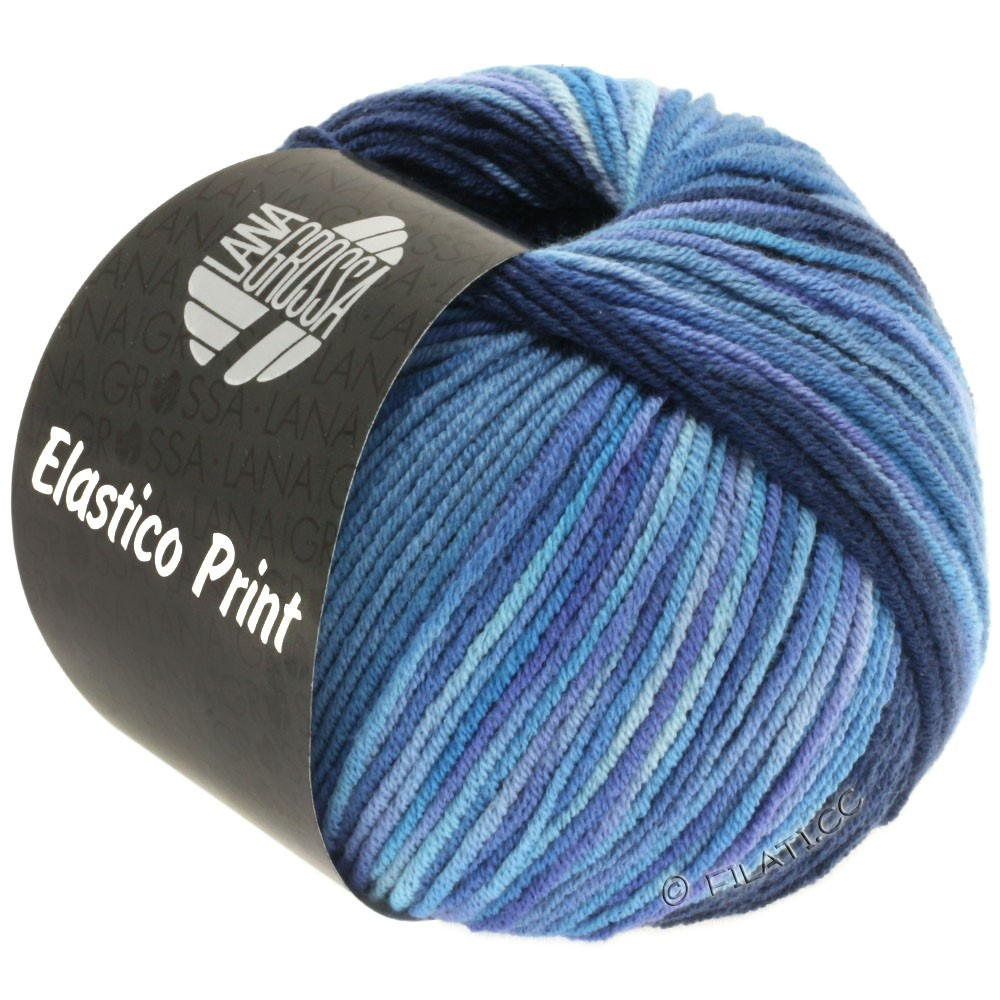 Lana Grossa ELASTICO  Uni/Print | 520-Nachtblau/Jeans/Blauviolett/Flieder