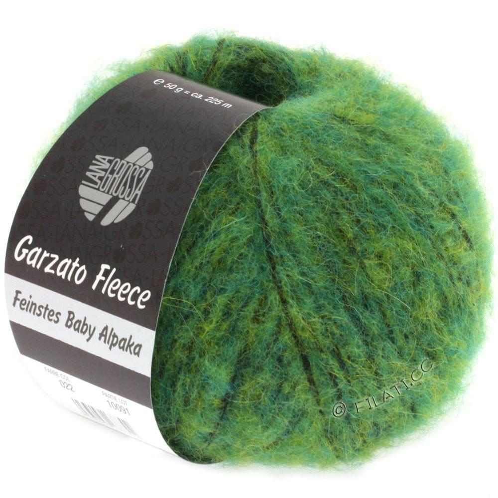Lana Grossa GARZATO Fleece Uni/Print/Degradé | 022-Grün/Gelb/Schwarz