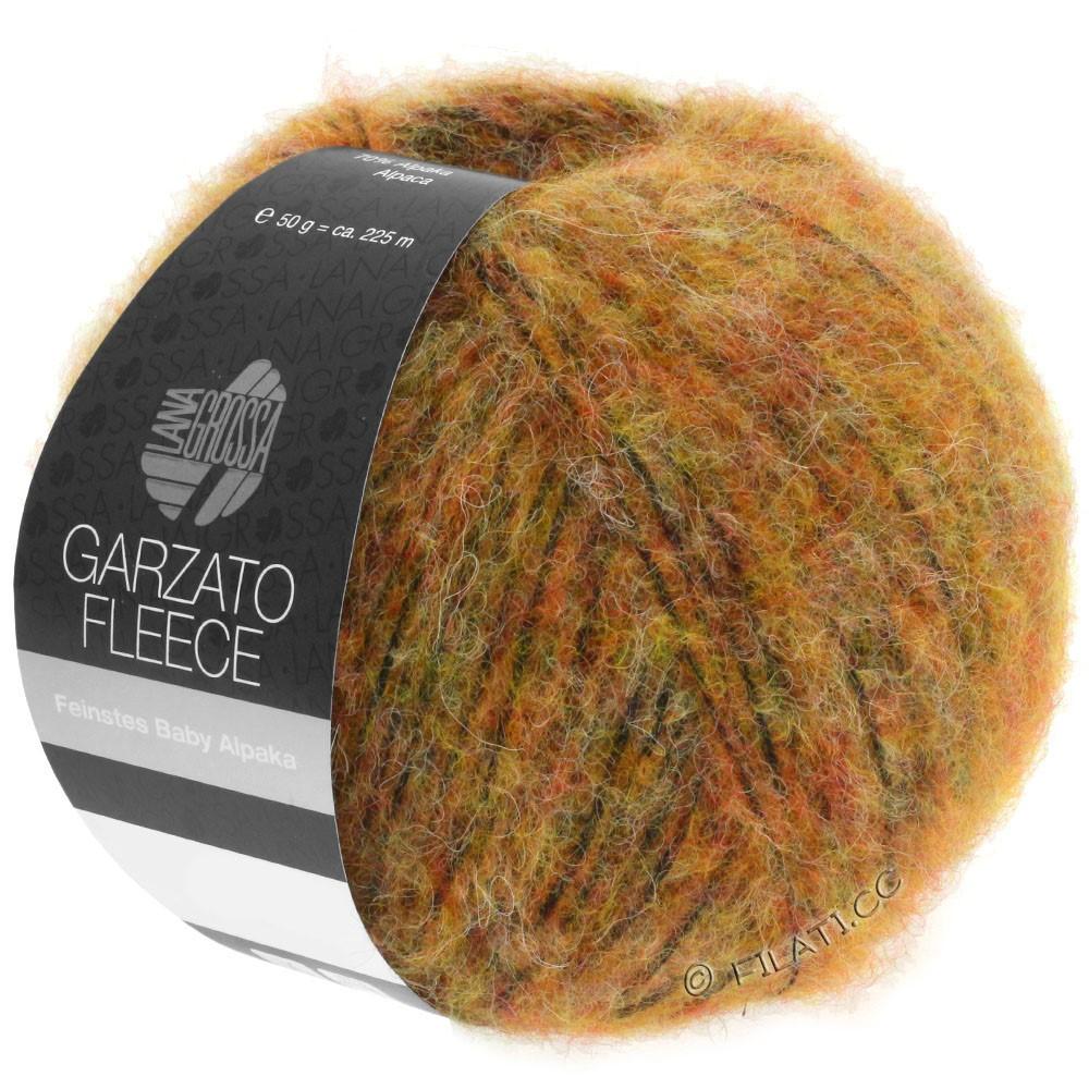 Lana Grossa GARZATO Fleece Uni/Print/Degradé | 029-Gelb/Orange/Schwarz
