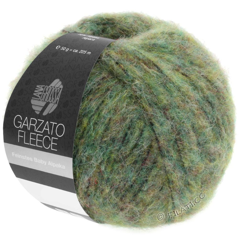 Lana Grossa GARZATO Fleece Uni/Print/Degradé | 030-Hellgrün/Gelbgrün/Schwarz