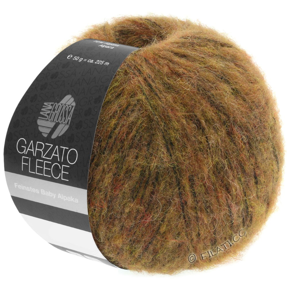 Lana Grossa GARZATO Fleece Uni/Print/Degradé | 031-Hellbraun/Ocker/Schwarz