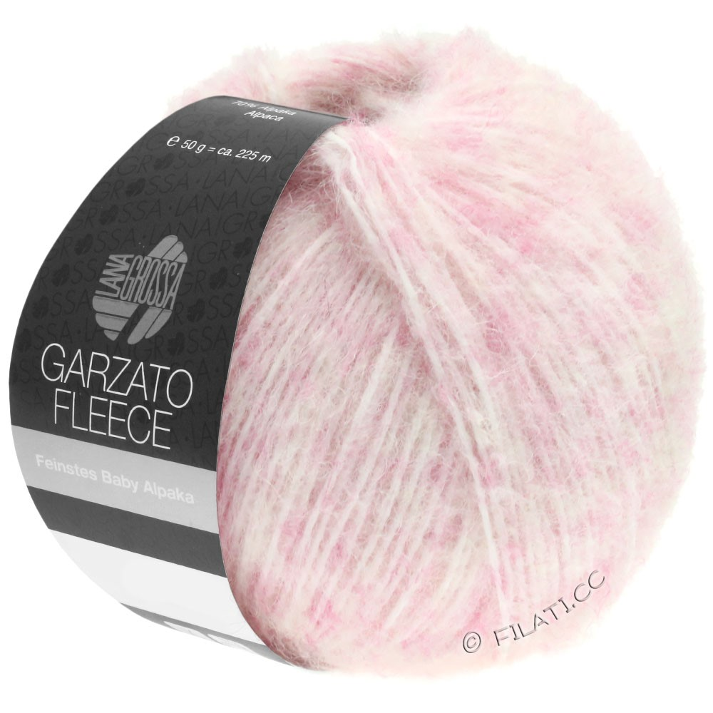 Lana Grossa GARZATO Fleece Uni/Print/Degradé | 033-Rosa/Weiß