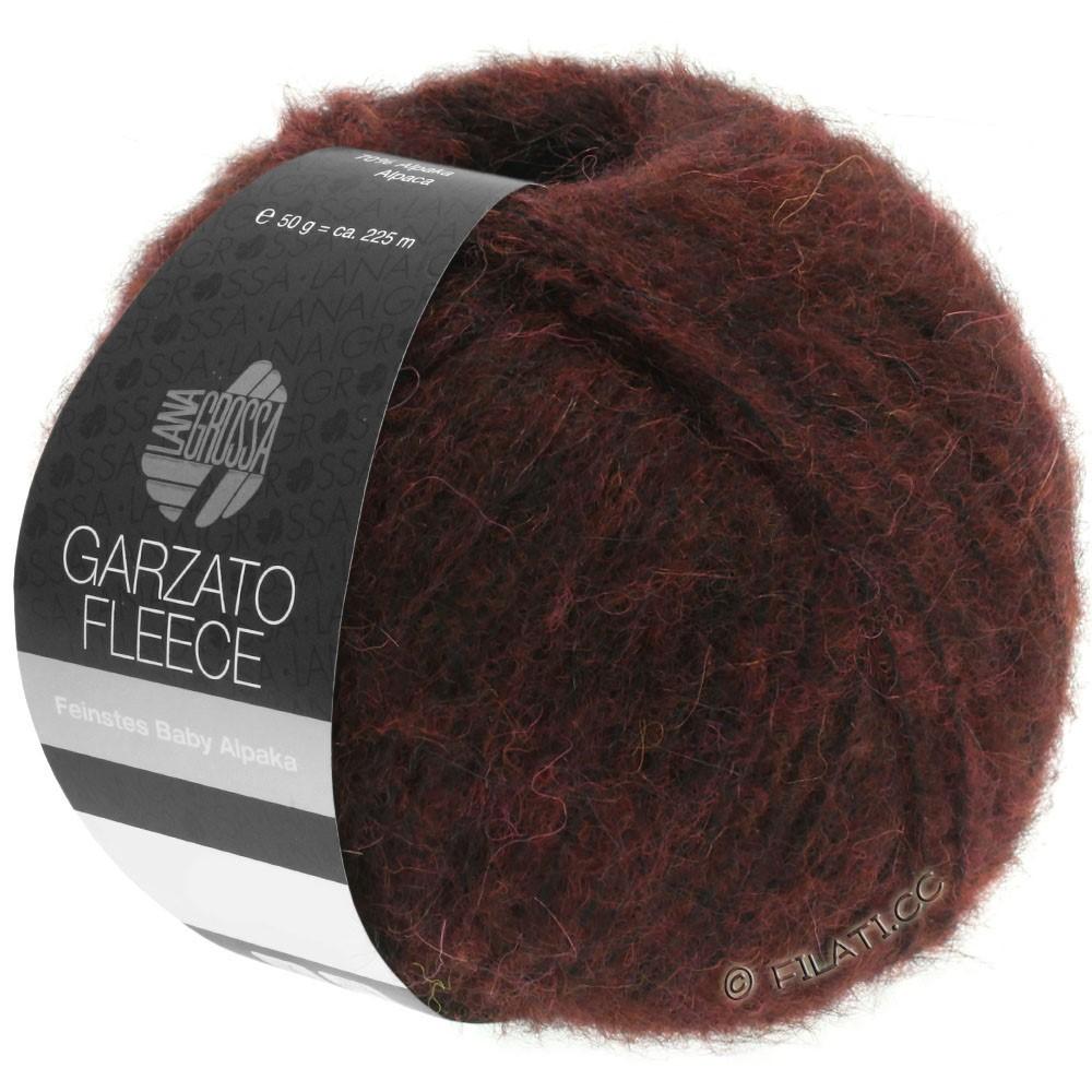 Lana Grossa GARZATO Fleece Uni/Print/Degradé | 034-Burgund/Schwarz