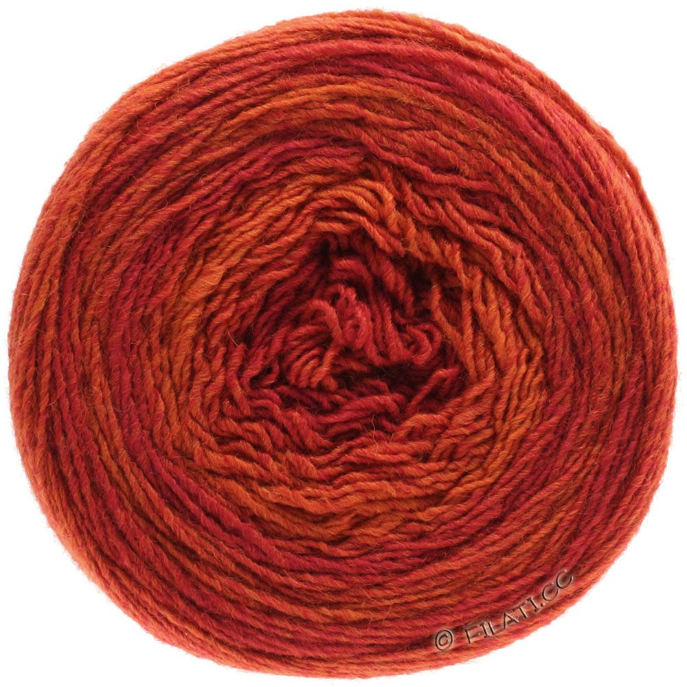 Lana Grossa GOMITOLO 200 Degradé | 305-Rot/Orange