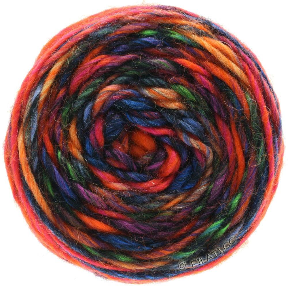 Lana Grossa GOMITOLO MERINO | 05-Orange/Rot/Violett/Petrol/Blau/Schwarz