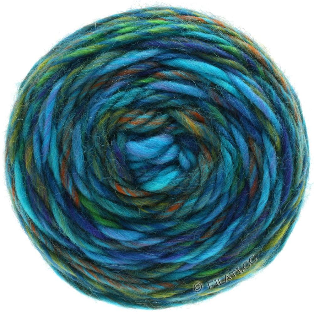 Lana Grossa GOMITOLO MERINO | 08-Flieder/Blauviolett/Jade/Kupfer