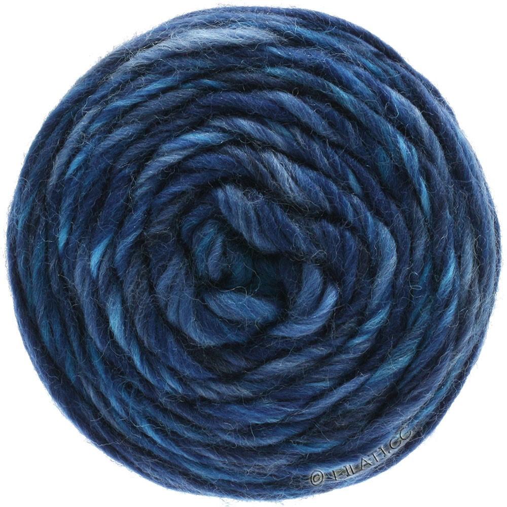 Lana Grossa GOMITOLO MERINO | 09-Hellblau/Jeans/Dunkelblau/Nachtblau
