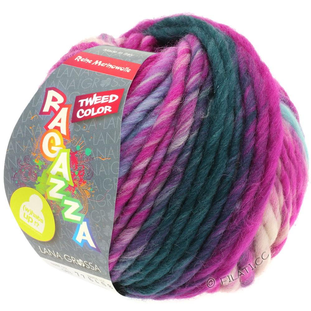 Lana Grossa LEI Tweed Color | 401-Hellblau/Hellgrau/Jeans/Zyklam meliert