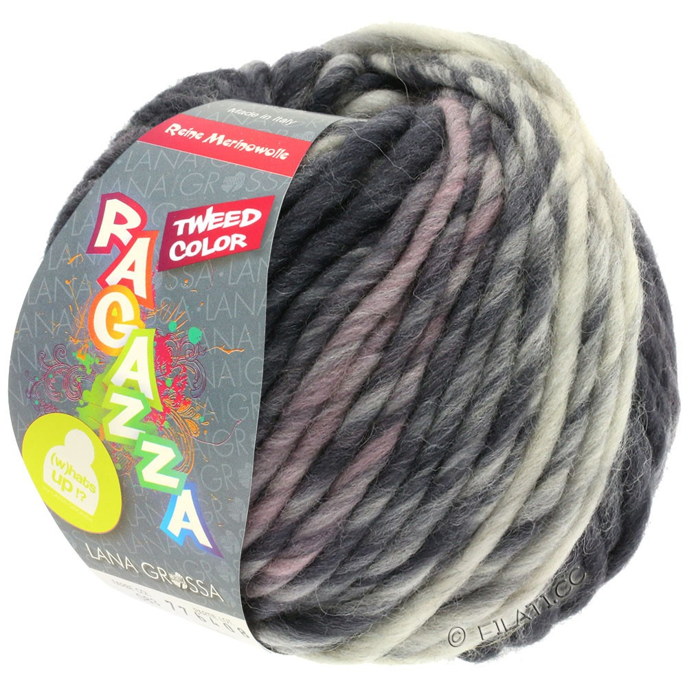 Lana Grossa LEI Tweed Color | 405-Hellgrau/Mittelgrau/Dunkelgrau meliert