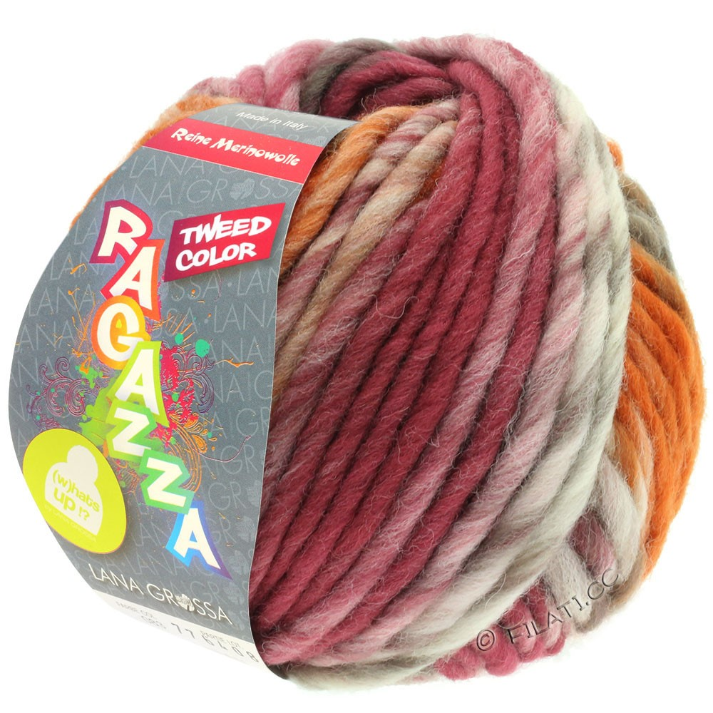 Lana Grossa LEI Tweed Color | 406-Natur/Taupe/Schokobraun/Rosenholz/Cognac meliert