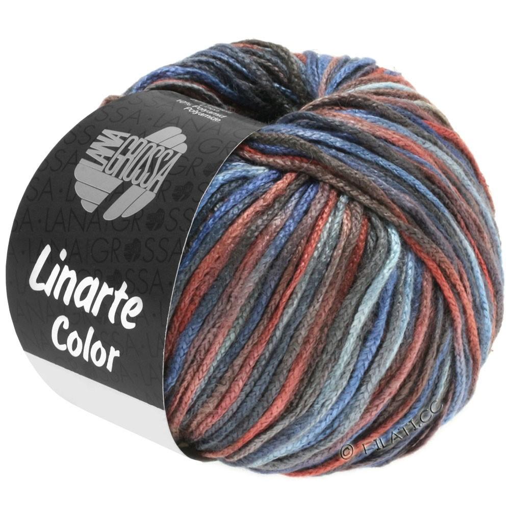 Lana Grossa LINARTE Color | 106-Blaugrau/Kastanienbraun/Dunkelgrau