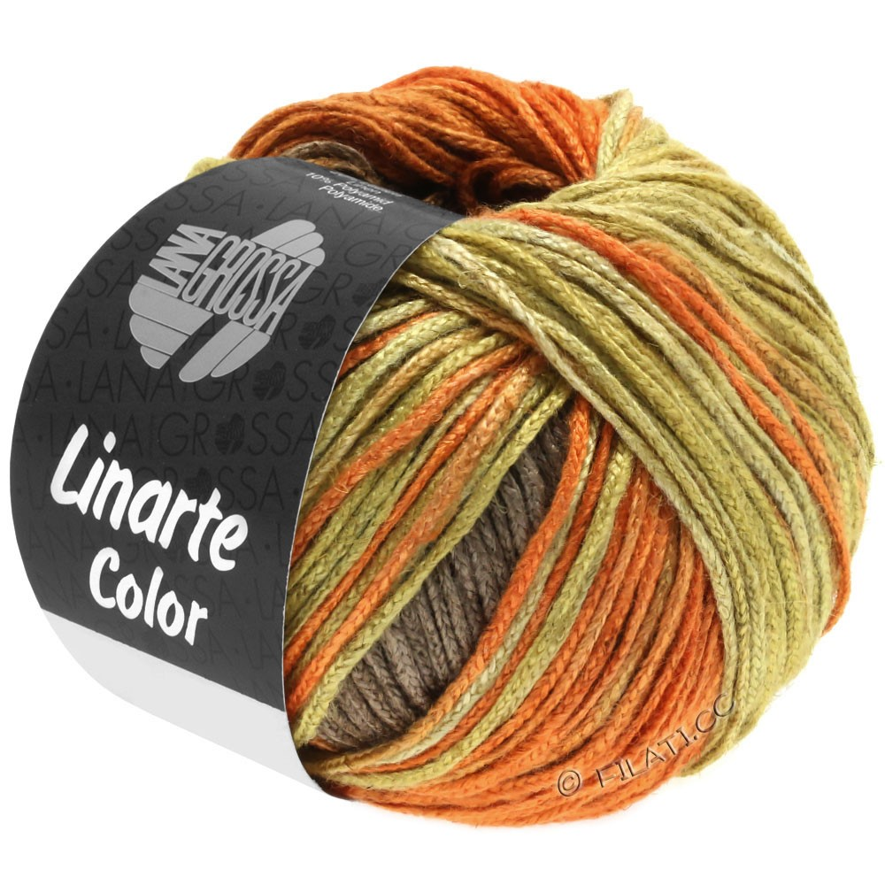 Lana Grossa LINARTE Color | 203-Olivgelb/Signalorange/Kupferbraun/Graubraun