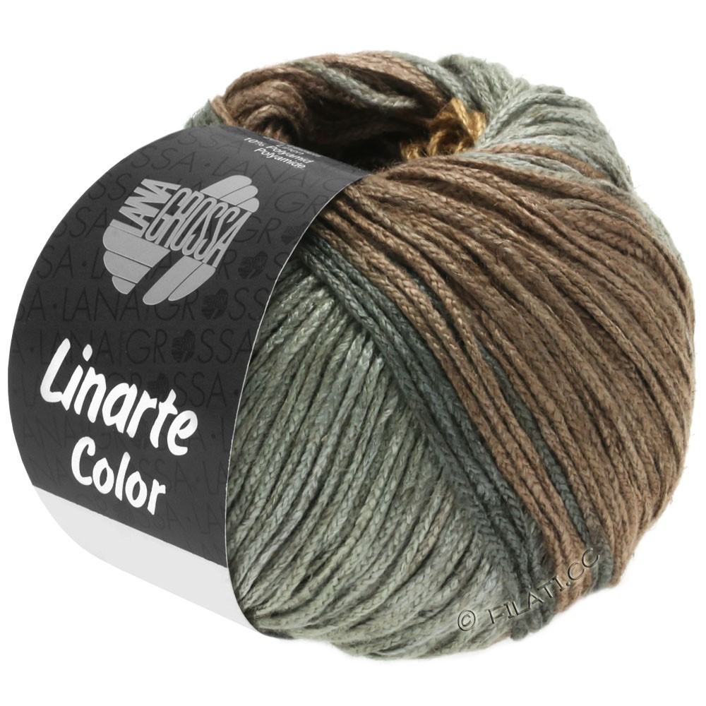 Lana Grossa LINARTE Color | 202-Oliv-/Mahagonibraun/Umbragrau/Graphitgrau