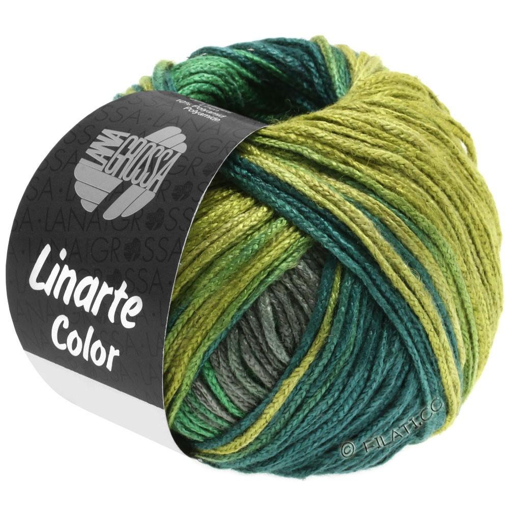 Lana Grossa LINARTE Color | 205-Schilf-/Moos-/Türkisgrün/Graphitgrau