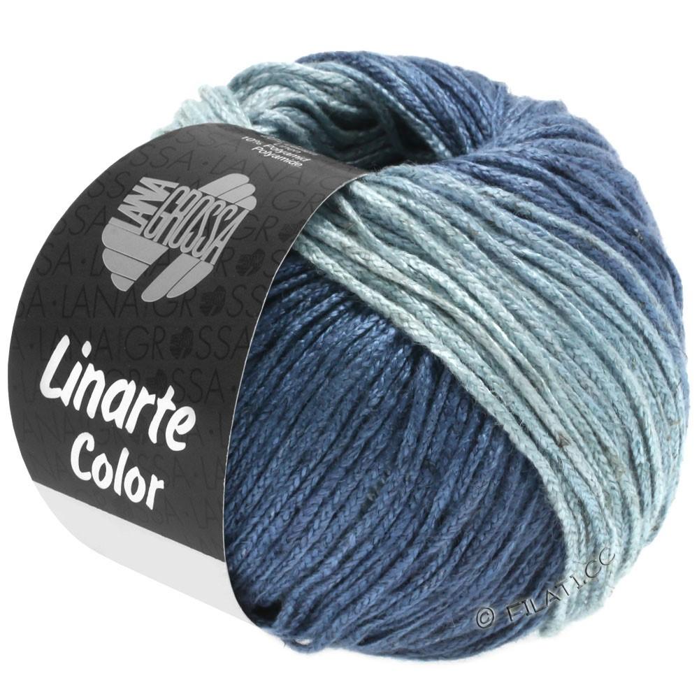Lana Grossa LINARTE Color | 206-Taubenblau/Blaugrau/Ozeanblau/Jeans