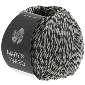 Lana Grossa MARY'S TWEED | 15-Anthrazit/Hellgrau meliert