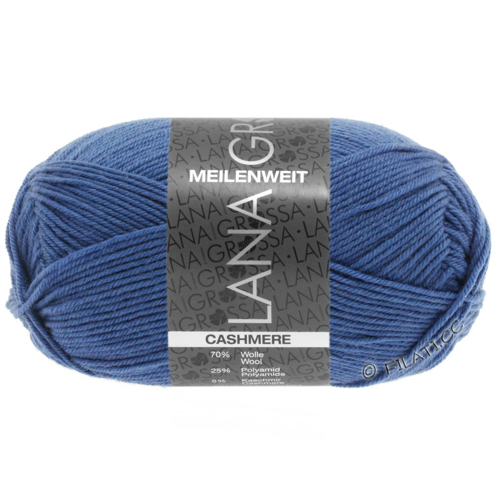 Lana Grossa MEILENWEIT 50g Cashmere | 16-Brillantblau