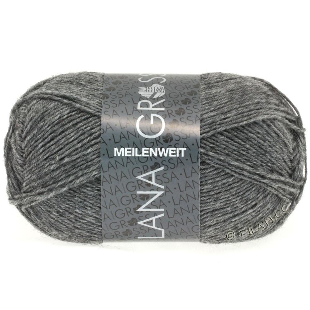 Lana Grossa MEILENWEIT 50g Uni | 1104-Grau meliert