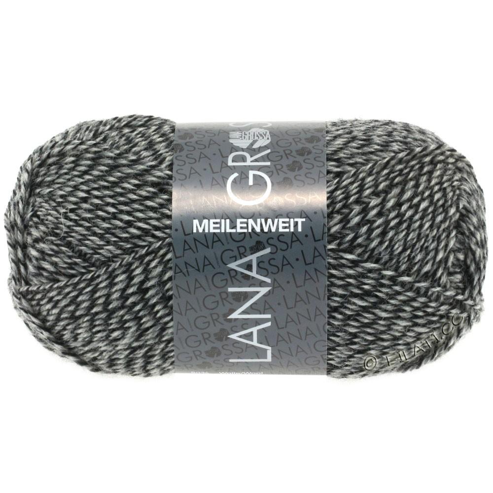 Lana Grossa MEILENWEIT 50g Uni   1178-Natur/Grau/Schwarz