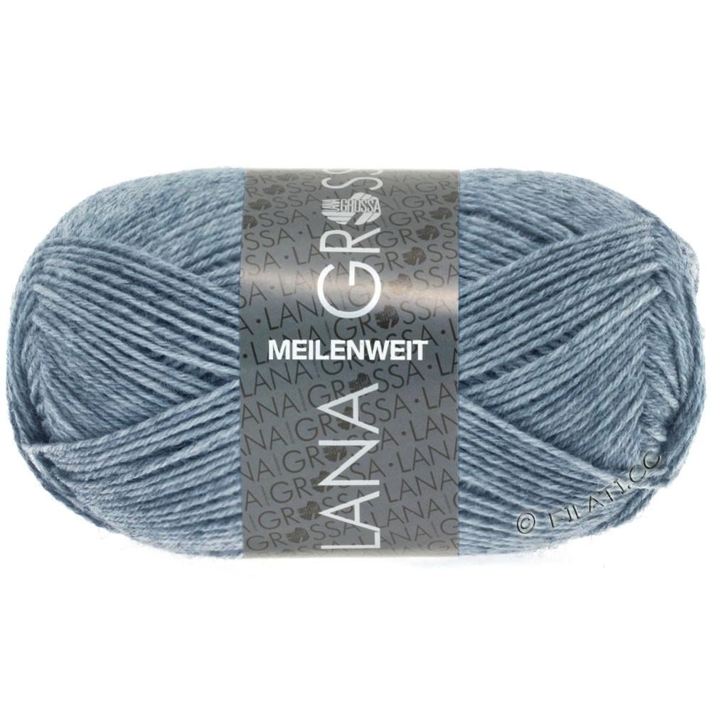 Lana Grossa MEILENWEIT 50g Uni   1302-Jeans/Grau meliert