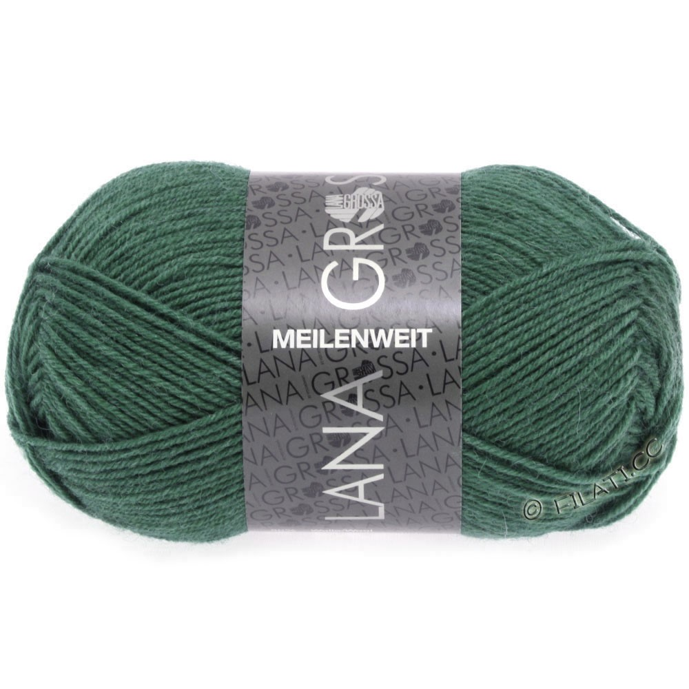 Lana Grossa MEILENWEIT 50g Uni   1368-Dunkles Seegrün