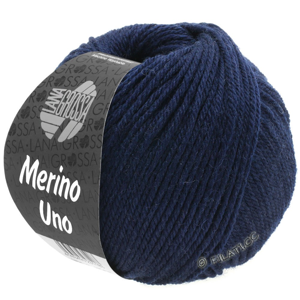 Lana Grossa MERINO UNO | 04-Nachtblau