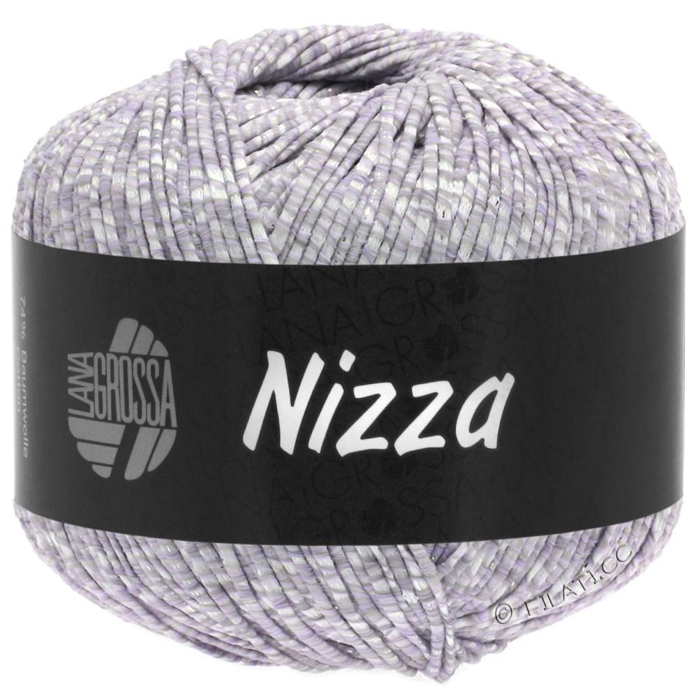 Lana Grossa NIZZA | 02-Weiß/Zartlila/Silber