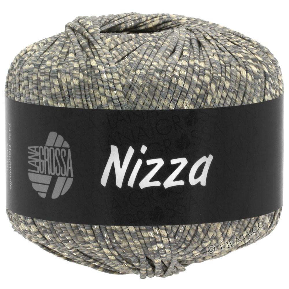 Lana Grossa NIZZA | 08-Beige/Grau/Silber