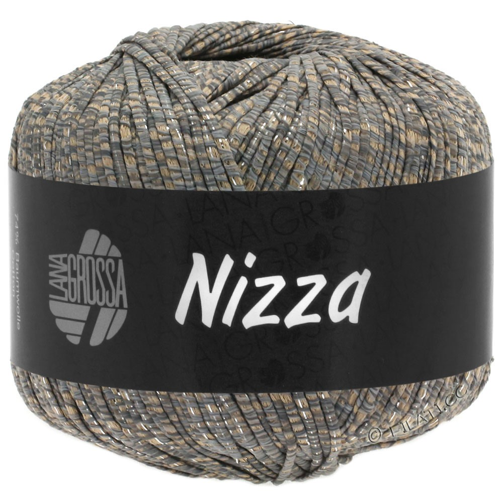 Lana Grossa NIZZA | 09-Camel/Grau/Silber