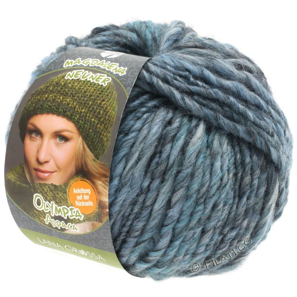 Lana Grossa OLYMPIA Alpaca | 901-Jeans/Grünblau meliert