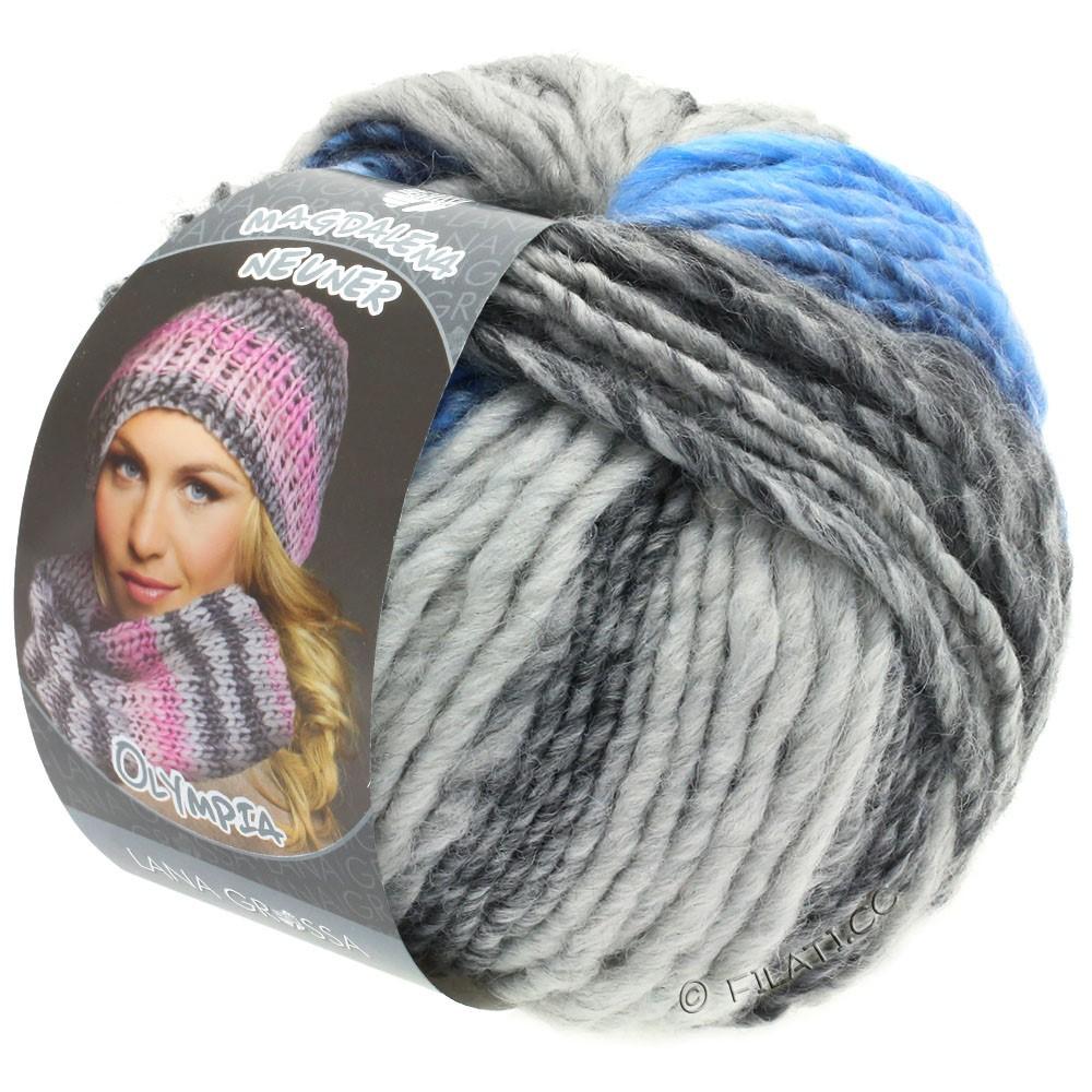 Lana Grossa OLYMPIA Grey | 802-Dunkelgrau/Hellgrau/Jeans/Kornblume