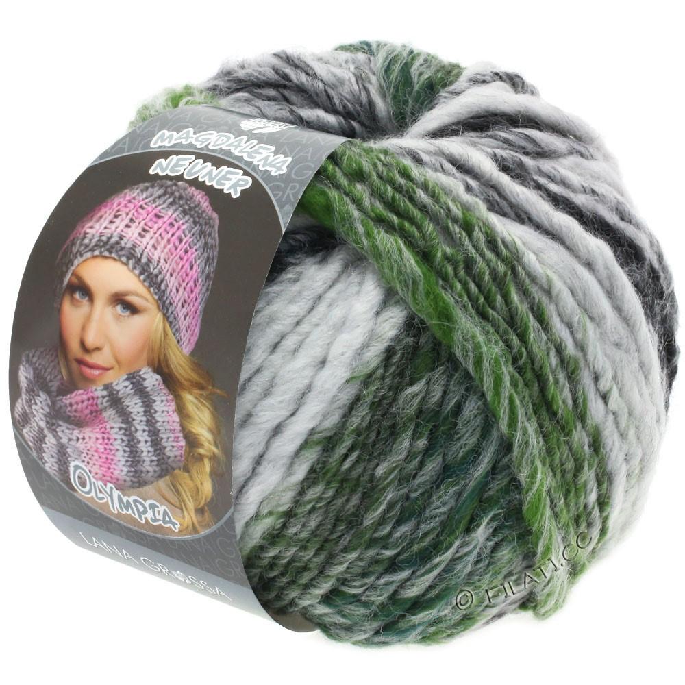 Lana Grossa OLYMPIA Grey | 811-Anthrazit/Dunkelgrau/Hellgrau/Moosgrün meliert