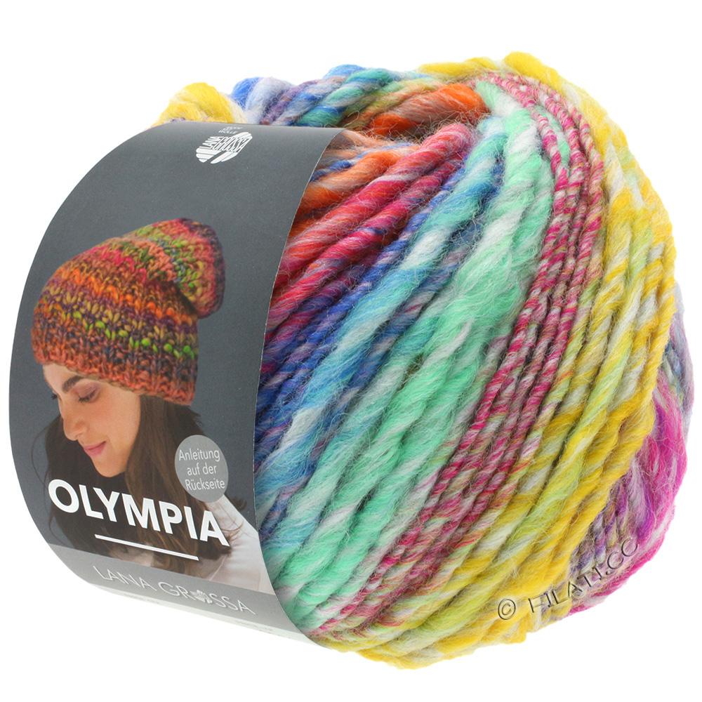 Fb Wolle Kreativ Olympia 85 gelb//orange//mint//zyklam//blau 100 g Lana Grossa