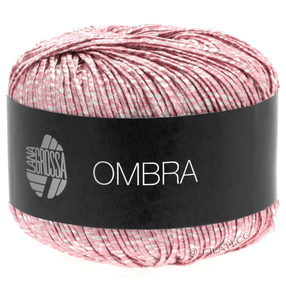 Lana Grossa OMBRA | 15-Rosa/Weiß