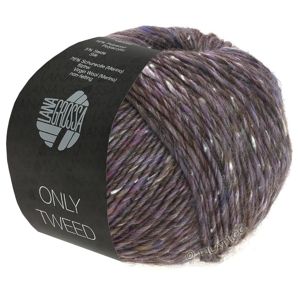 Lana Grossa ONLY TWEED | 103-Antikviolett/Natur/Braungrau