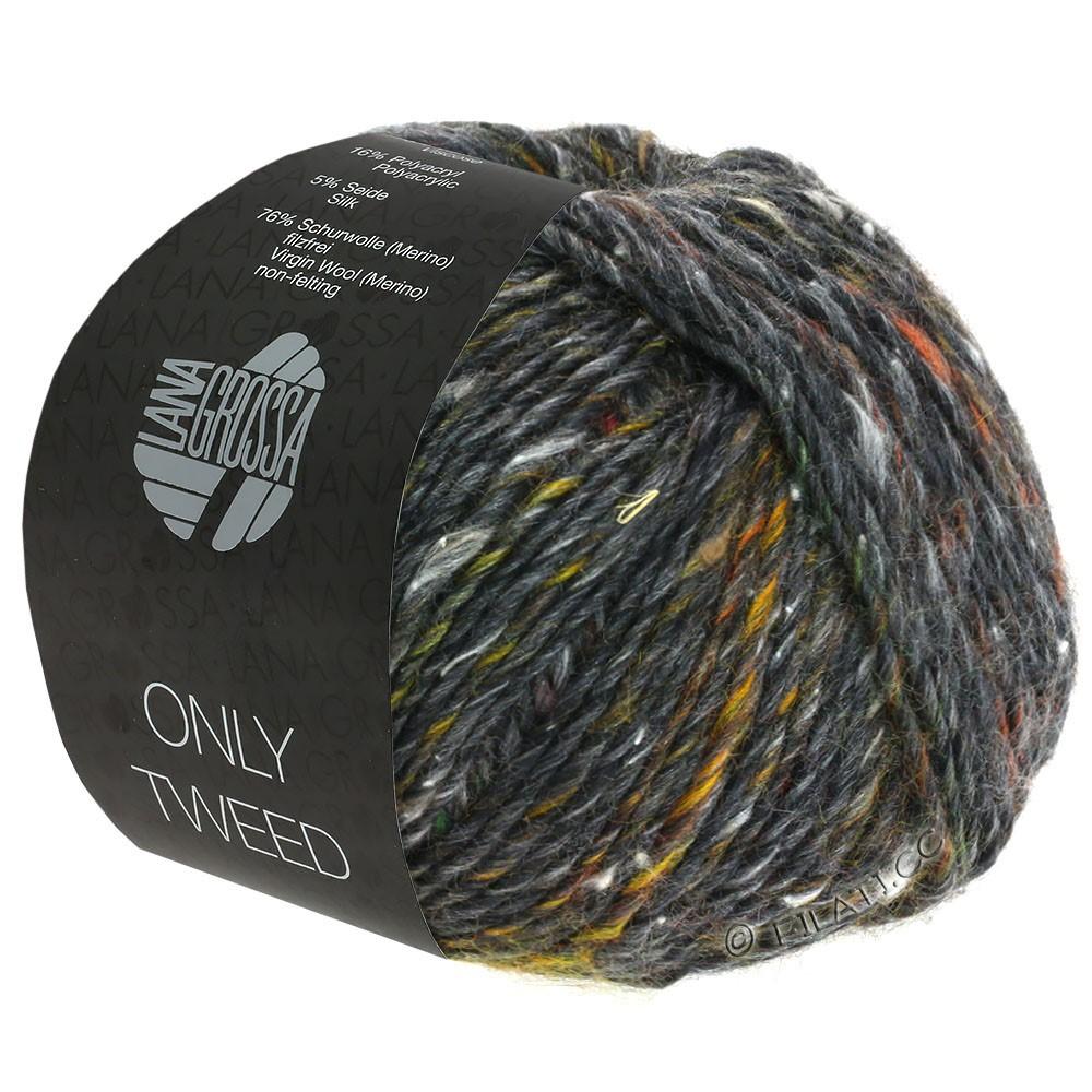Lana Grossa ONLY TWEED | 108-Anthrazit/Kupfer/Grüngrau