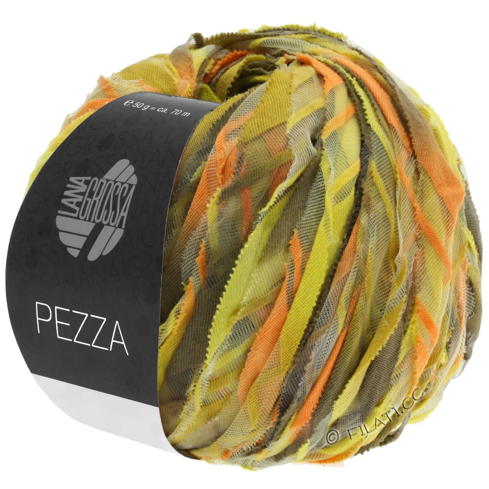 Lana Grossa PEZZA | 03-Gelb/Orange/Ocker/Graubeige