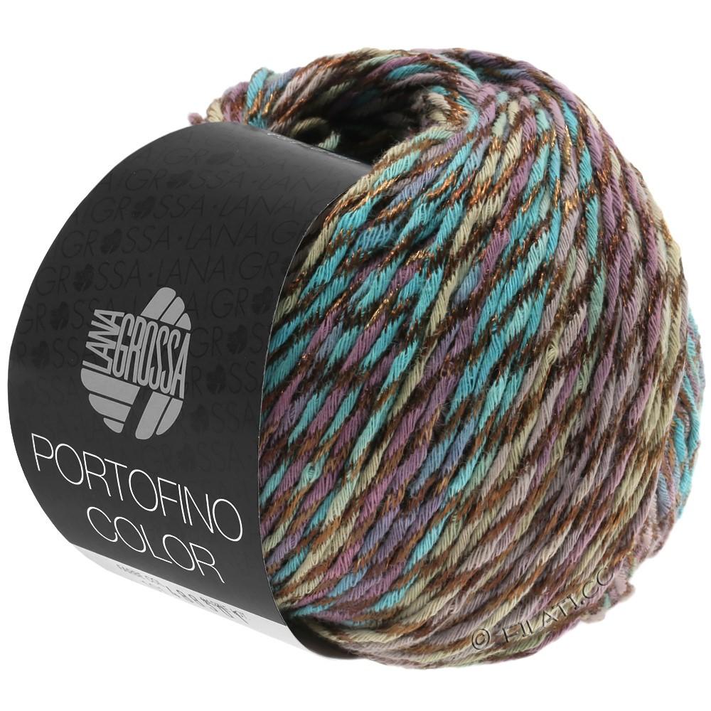 Lana Grossa PORTOFINO Color | 102-Petrol/Antikviolett/Graubraun