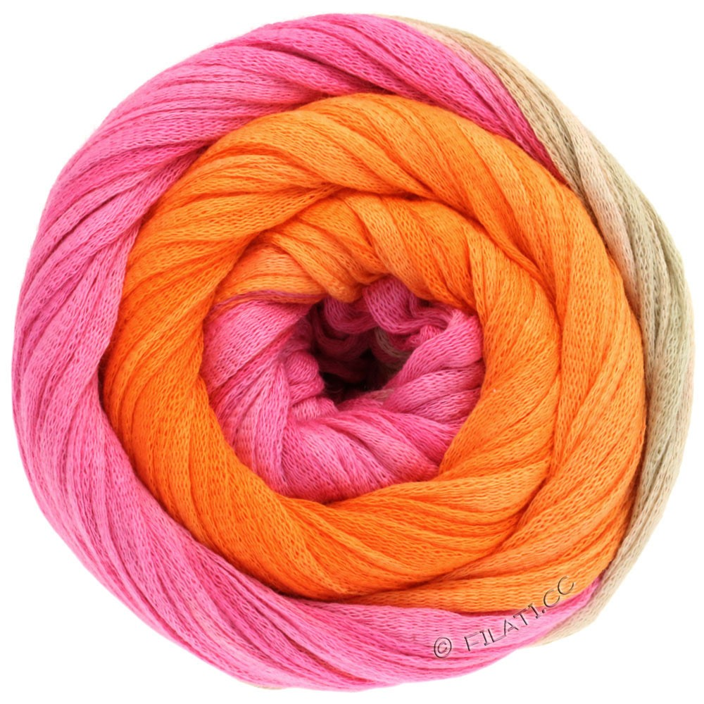 Lana Grossa PRIMAVERA | 117-Pink/Perlbeige/Orange/Tomatenrot