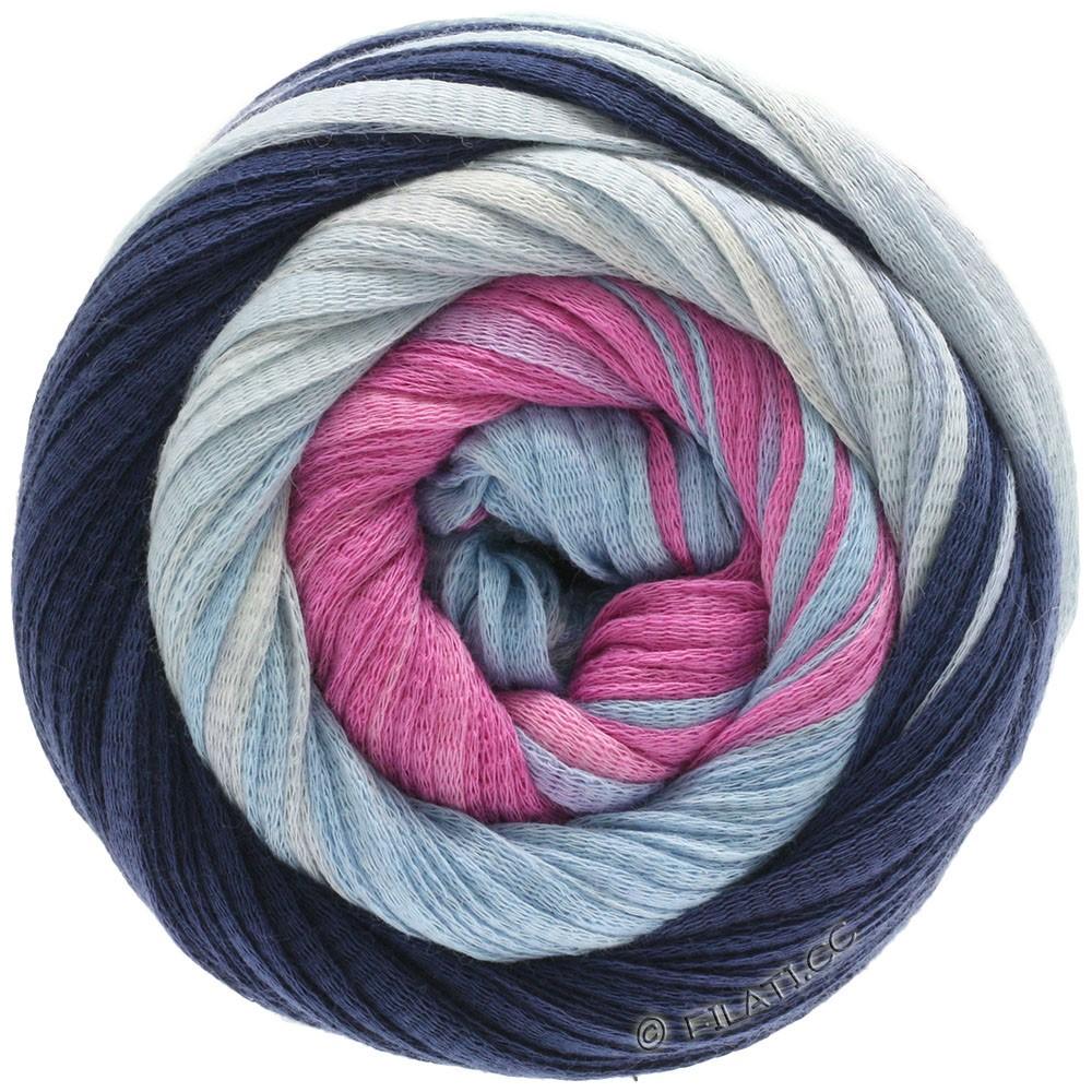 Lana Grossa PRIMAVERA | 132-Dunkelblau/Hellblau/Pink/Rosa/Natur