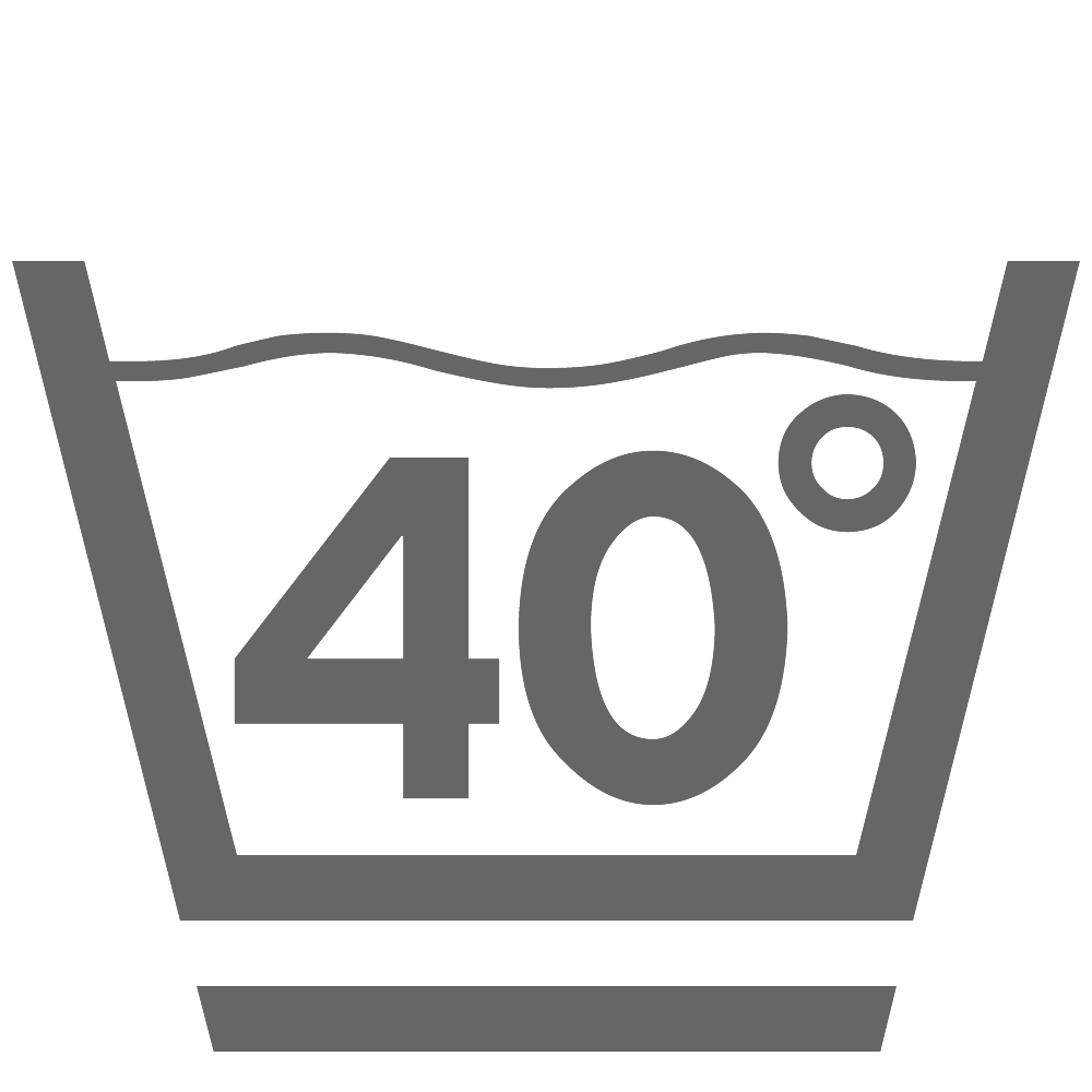 Waschen 40°C (schonend)