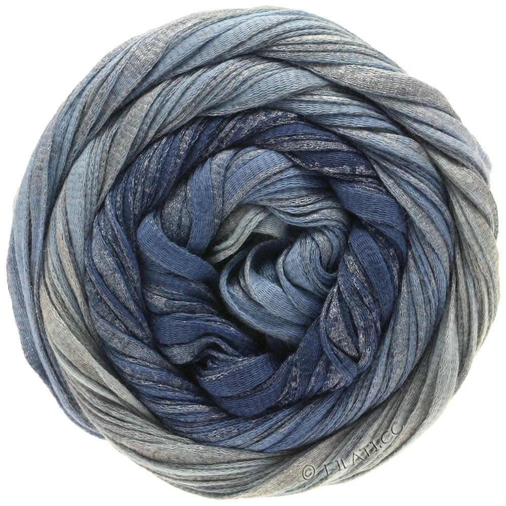 Lana Grossa ROMA Degradé | 303-Jeans/Taubenblau/Silber