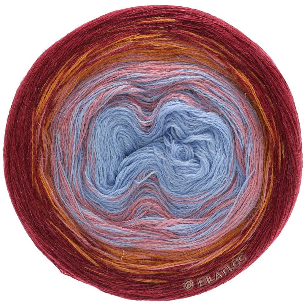 Lana Grossa SHADES OF ALPACA SILK | 301-Hellblau/Blau/Rosa/Orange/Bordeaux