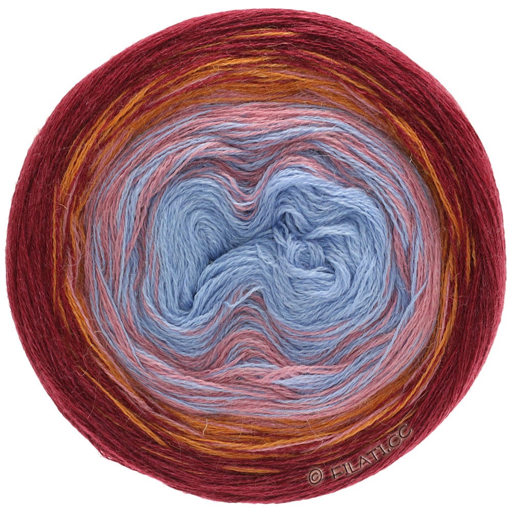 Lana Grossa SHADES OF ALPACA SILK | 301-Bordeaux/Orange/Beigerosa/Blau